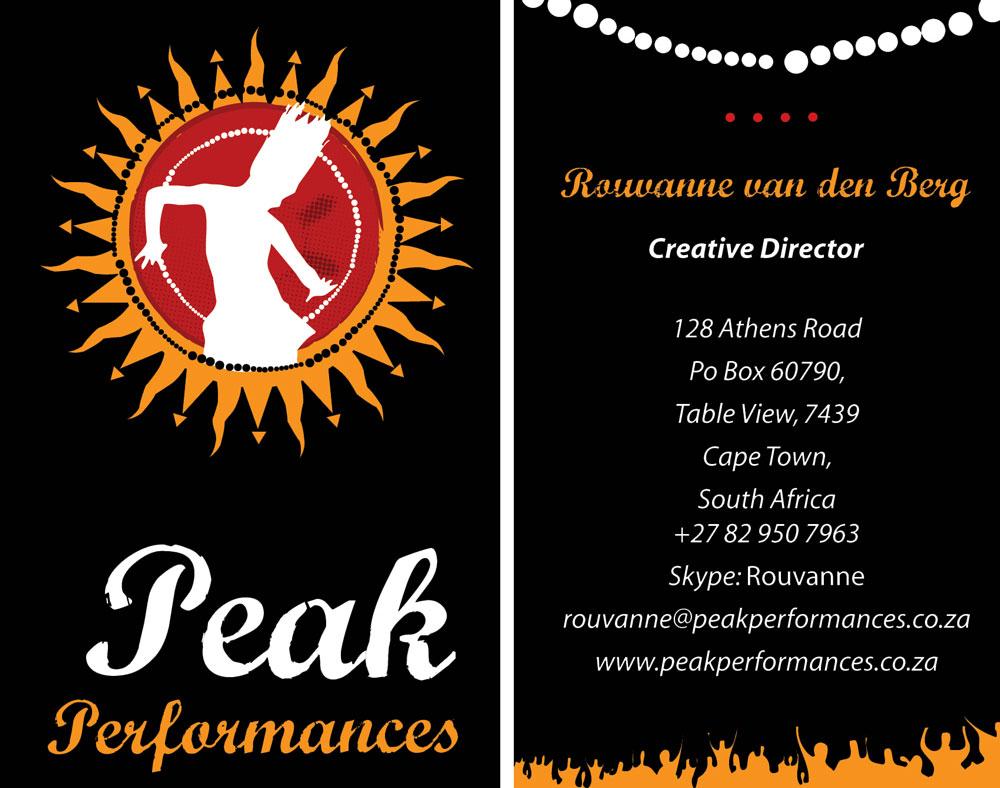 Peak Performances Business Cards Iaminawe